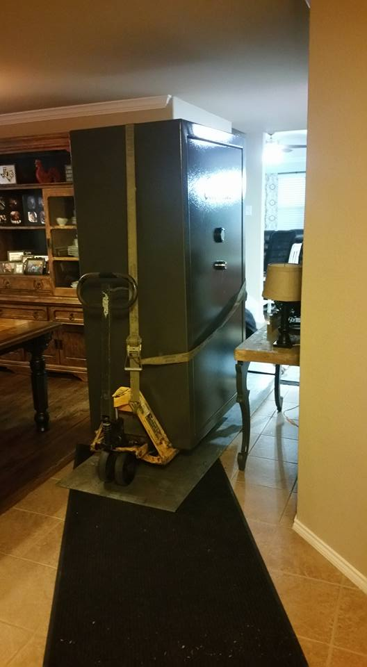 moving a cabela 39 s gun safe from a cramped bedroom to the garage