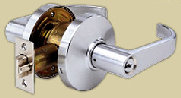 We install new lever locks like the one in this picture