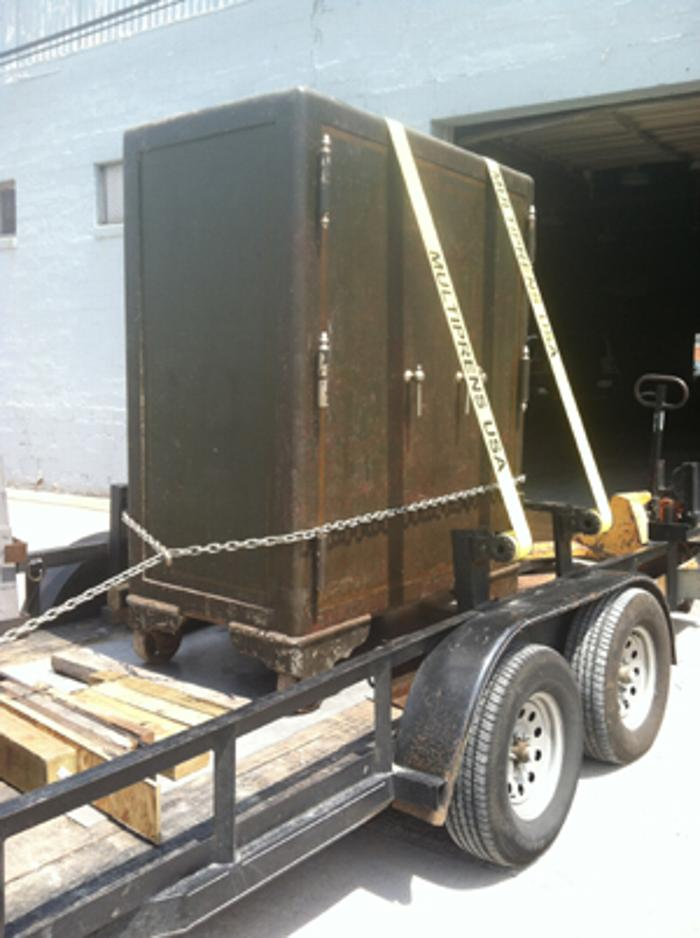 Unlock The Door >> Here we are moving an antique 8,000 pound Mosler safe ...
