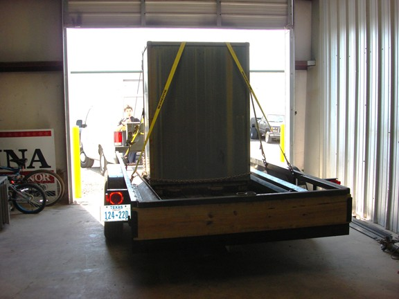 Here we are moving a large double door safe - Tarrant County