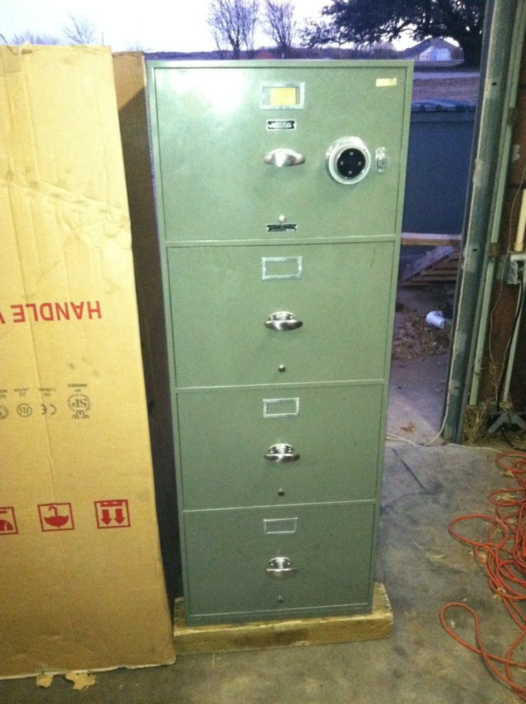 Here is a Hercules fire file safe that we moved - Tarrant County