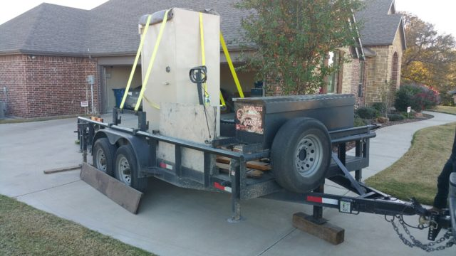 Moving a Diebold Bank Safe - Fort Worth, TX - Tarrant County Lock & Safe