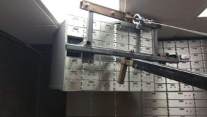 Emergency Locksmith Fort TX Worth removing safe deposit boxes from a bank vault