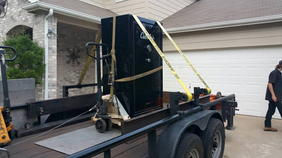 Moving a cabela 39 s gun safe fort worth tx tarrant for Walk in safes for homes