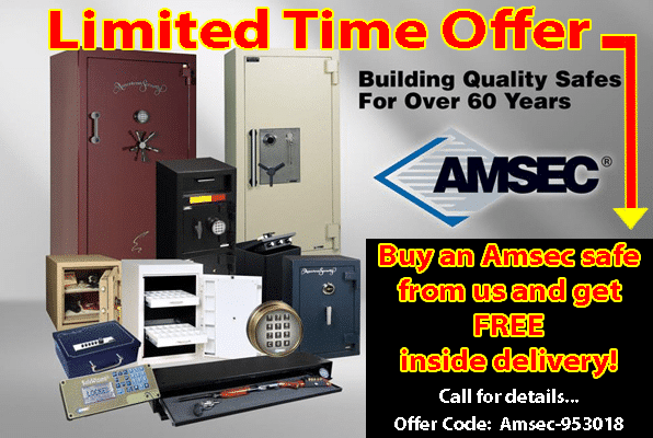 Amsec Safes Free Delivery Offer